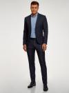 Пиджак базовый приталенный oodji для мужчины (синий), 2B420029M/49270N/7900N - вид 6