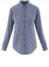 Блузка прямого силуэта с нагрудным карманом oodji для женщины (синий), 11411134B/46123/7912G