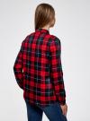 Блузка принтованная из вискозы oodji для женщины (красный), 11411098/45208/4579C - вид 3