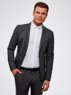 Пиджак базовый приталенный oodji для мужчины (серый), 2B420019M/44320N/2500M - вид 2