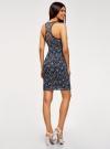Платье трикотажное без рукавов oodji для женщины (синий), 14005130/42867/7910F - вид 3