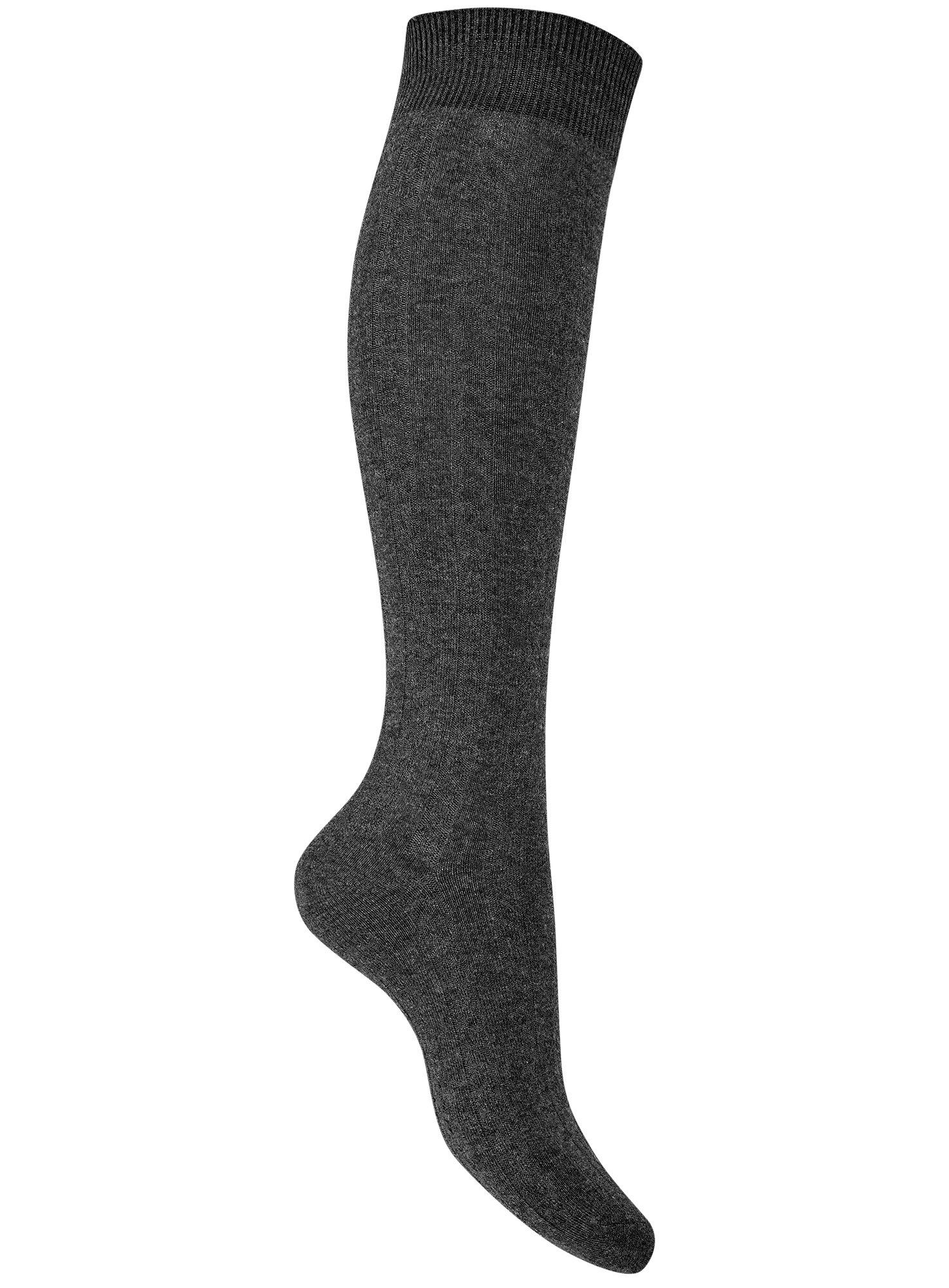 Гольфы с узором oodji для женщины (серый), 57104300-3/14608/2500M