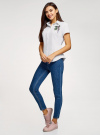 Рубашка хлопковая с вышивкой oodji для женщины (белый), 13K01004-6/14885/1019P - вид 6