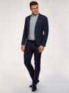 Пиджак приталенный на пуговице oodji для мужчины (синий), 2L410205M/46813N/7500O - вид 6