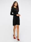 Платье с декоративной вставкой oodji для женщины (черный), 73912220/33506/2900N - вид 6