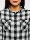 Рубашка хлопковая с нагрудными карманами oodji для женщины (серый), 13L00001/43223/1229C - вид 4
