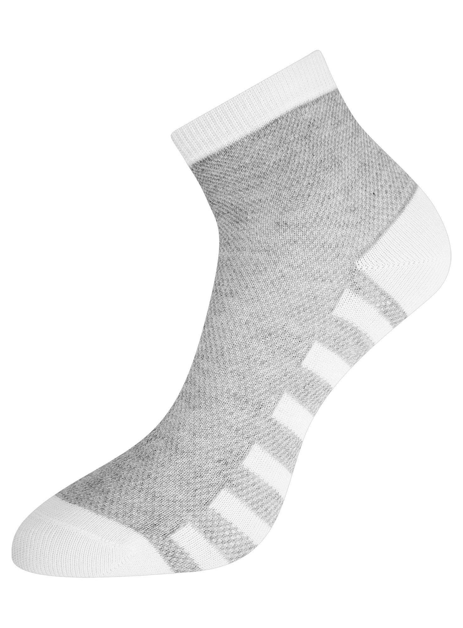 Комплект из трех пар хлопковых носков oodji для женщины (серый), 57102711T3/48022/11