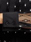 Блузка из прозрачной ткани с вышивкой oodji для женщины (черный), 11301528/49676/2912L - вид 5