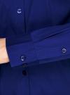 Рубашка приталенная с V-образным вырезом oodji для женщины (синий), 11402092B/42083/7500N - вид 5