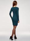 Платье вязаное базовое oodji для женщины (синий), 73912217-2B/33506/7400N - вид 3