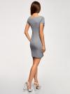 Платье трикотажное с вырезом-лодочкой oodji для женщины (серый), 14001117-2B/16564/2500M - вид 3