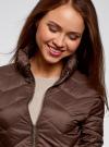 Куртка стеганая с воротником-стойкой oodji для женщины (коричневый), 10203063/18268/3900N - вид 4