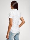 Рубашка хлопковая с нагрудными карманами oodji для женщины (белый), 11402084-3B/12836/1029Q - вид 3