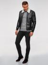 Куртка из искусственной кожи на молнии oodji для мужчины (черный), 1L511061M/48591N/2900N - вид 6