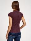 Рубашка с коротким рукавом из хлопка oodji для женщины (синий), 11403196-3/26357/7945G - вид 3