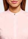 Рубашка с коротким рукавом из хлопка oodji для женщины (розовый), 11403196-1/18193/4000N - вид 4