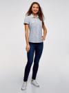 Рубашка хлопковая с нагрудными карманами oodji для женщины (белый), 13L02001B/45510/1279G - вид 6