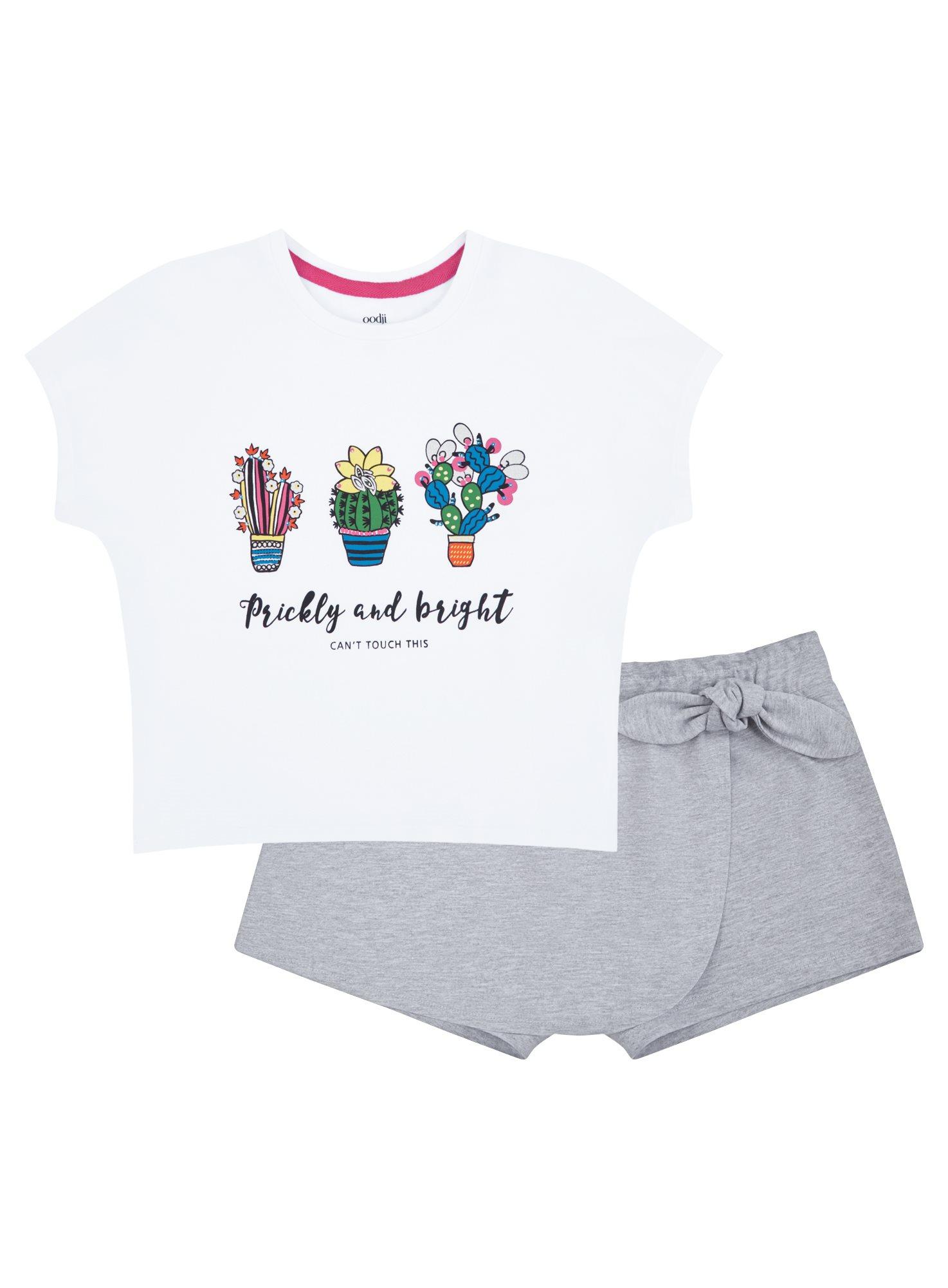 Пижама хлопковая с принтом oodji для женщины (белый), 56002230-3/46154/1020P