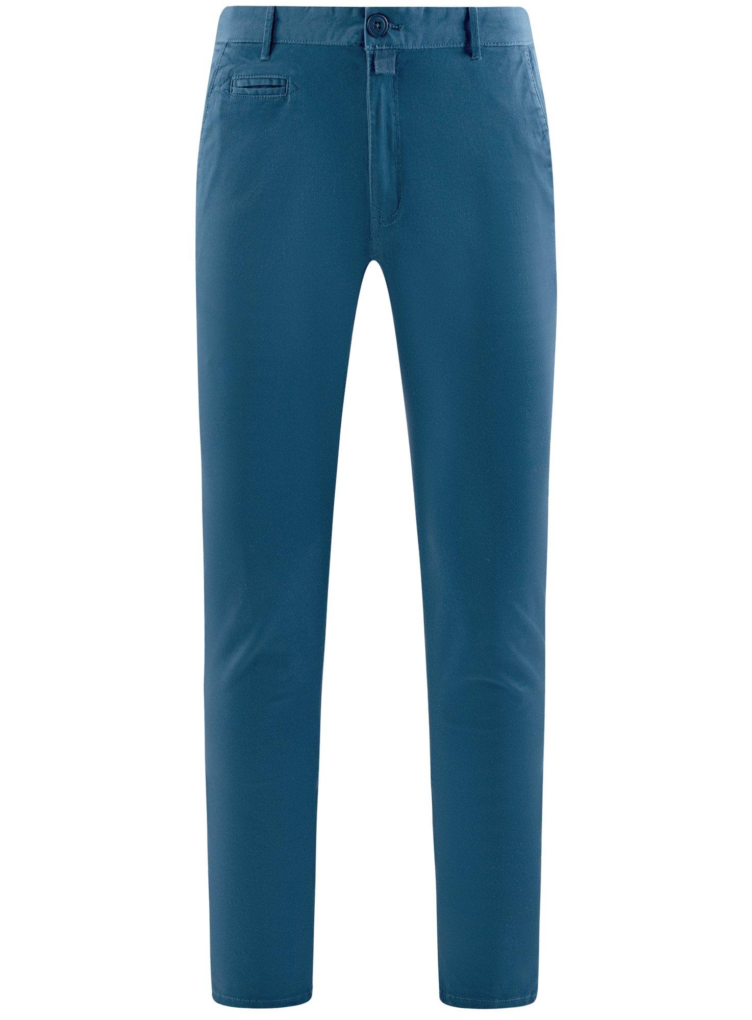 Брюки-чиносы хлопковые oodji для мужчины (синий), 2B150006M/39139N/7500N