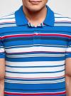 Поло в полоску oodji для мужчины (синий), 5L412208M/39486N/7510S - вид 4