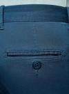 Брюки-чиносы хлопковые oodji для мужчины (синий), 2B150006M/39139N/7500N - вид 4