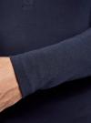 Футболка хенли с длинным рукавом oodji для мужчины (синий), 5B515005M/34149N/7900N - вид 5