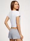 Пижама хлопковая с принтом oodji для женщины (белый), 56002230-3/46154/1020P - вид 3