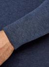 Футболка с длинным рукавом и V-образным вырезом oodji для мужчины (синий), 5B511003M-2/47845N/7900M - вид 5