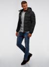 Куртка на молнии с капюшоном oodji для мужчины (черный), 1L112030M/48602N/2900N - вид 6