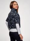 Куртка стеганая принтованная oodji для женщины (черный), 10207002-1/45419/2970F - вид 3