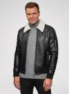 Куртка из искусственной кожи на молнии oodji для мужчины (черный), 1L511061M/48591N/2900N - вид 2