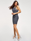 Платье трикотажное без рукавов oodji для женщины (синий), 14005130/42867/7910F - вид 6