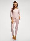 Комбинезон хлопковый с аппликацией oodji для женщины (розовый), 59809007/46154/4110P - вид 2