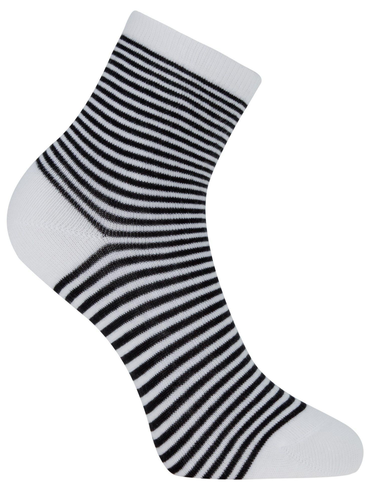 Носки базовые хлопковые oodji для женщины (белый), 57102466B/47469/1029S