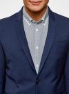 Пиджак классический oodji для мужчины (синий), 2B420016M/46317N/7800N - вид 4