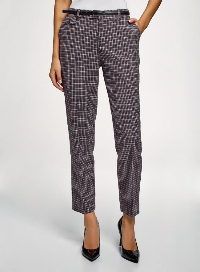 Брюки прямые с декоративным карманом oodji для женщины (серый), 21706031-1/46284/2910C