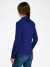 Рубашка приталенная с V-образным вырезом oodji для женщины (синий), 11402092B/42083/7500N - вид 3