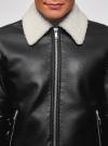 Куртка из искусственной кожи на молнии oodji для мужчины (черный), 1L511061M/48591N/2900N - вид 4
