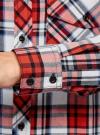 Рубашка хлопковая с нагрудными карманами oodji для женщины (красный), 11411052-1B/42850/4512C - вид 5