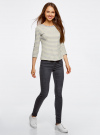 Комплект футболок с длинным рукавом (2 штуки) oodji для женщины (серый), 14201005T2/46158/2050S - вид 6