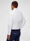 Рубашка базовая из фактурной ткани oodji для мужчины (белый), 3B110020M-1/48379N/1000N - вид 3