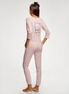 Комбинезон хлопковый с аппликацией oodji для женщины (розовый), 59809007/46154/4110P - вид 3