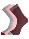 Комплект из трёх пар носков oodji для женщины (разноцветный), 57102908T3/15430/3 - вид 2
