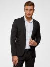 Пиджак классический oodji для мужчины (черный), 2B420016M/46317N/2900N - вид 2