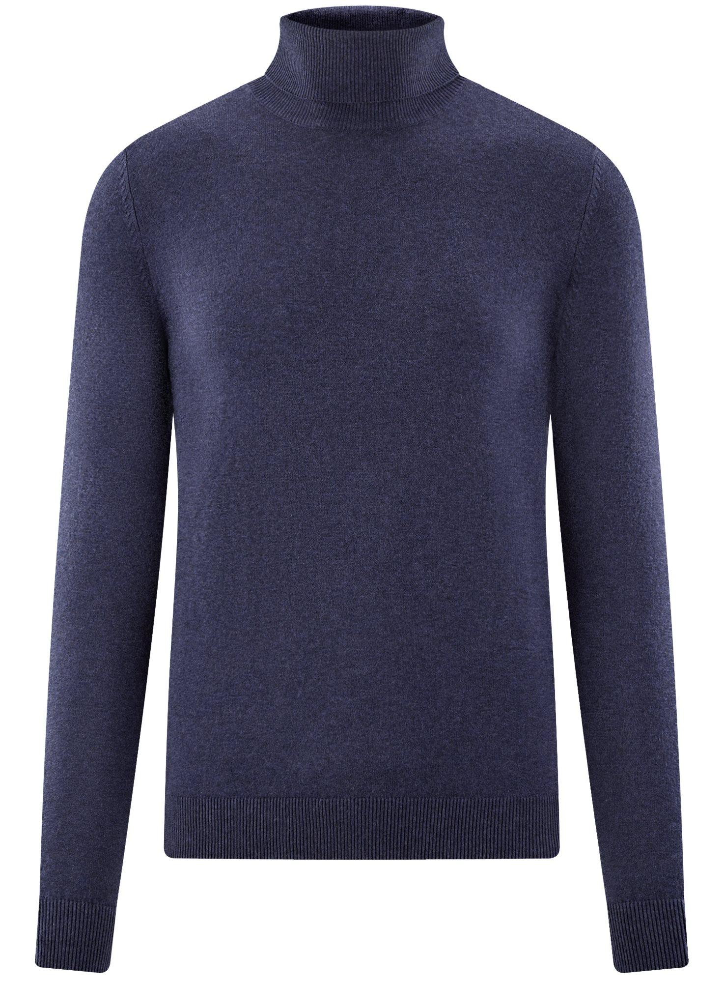 Свитер базовый из хлопка oodji для мужчины (синий), 4B312003M-1/34390N/7900M