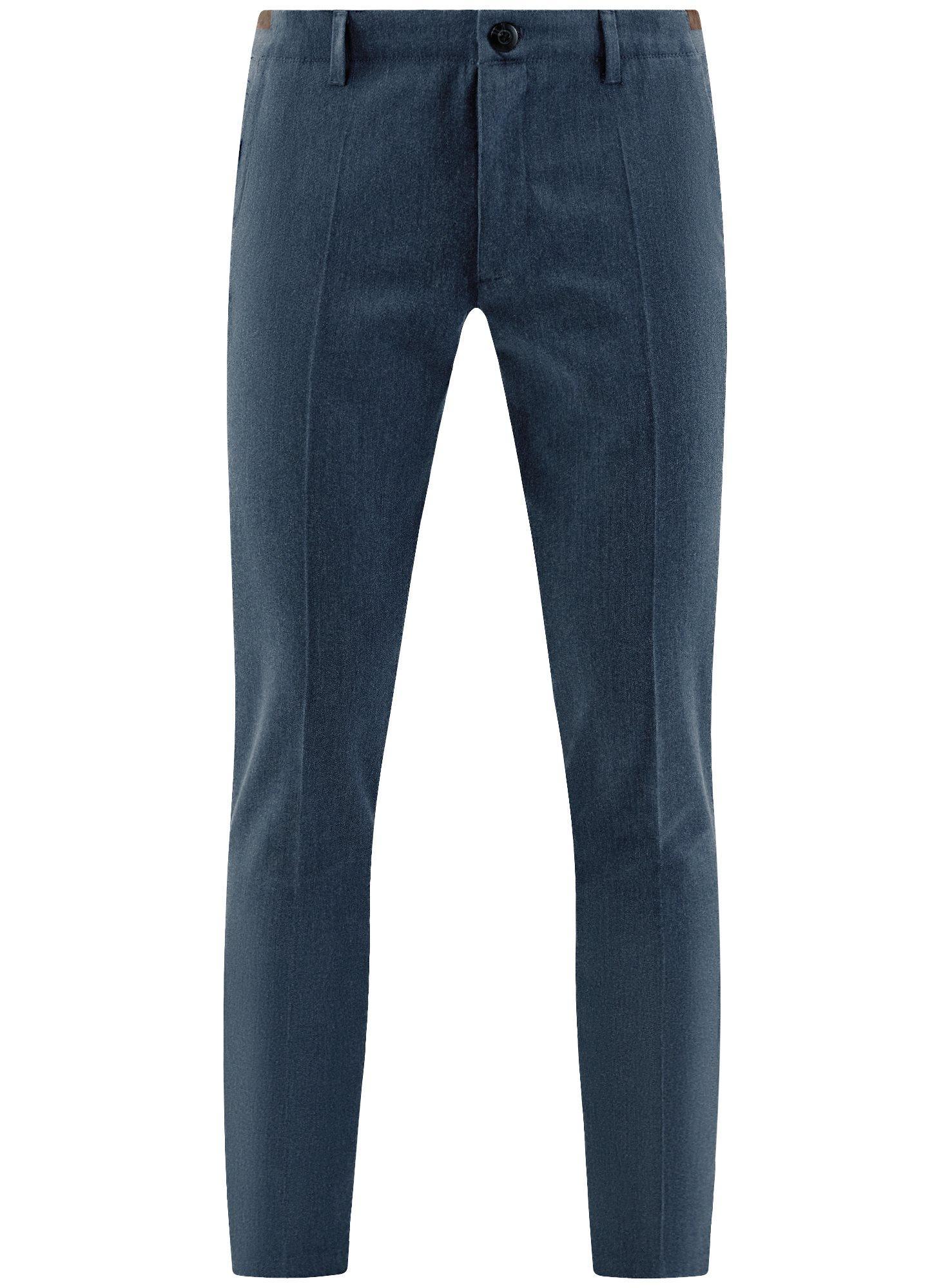 Брюки хлопковые slim fit oodji для мужчины (синий), 2L210173M/44324N/7900O