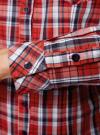 Рубашка в клетку хлопковая oodji для женщины (красный), 11405122-1/33564/4579C - вид 5