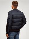 Куртка стеганая на заклепках oodji для мужчины (синий), 1L511077M/48733N/7900N - вид 3