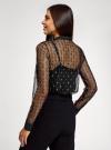 Блузка из прозрачной ткани с вышивкой oodji для женщины (черный), 11301528/49676/2912L - вид 3