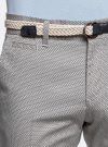 Шорты хлопковые с плетеным ремнем oodji для мужчины (слоновая кость), 2L600011M/39344N/3079G - вид 4